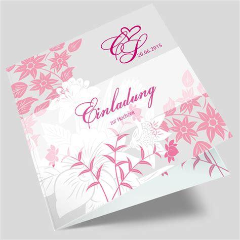 Hochzeitseinladung Floral by Hochzeitseinladung Florale Elemente In Brombeer