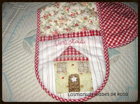 patchwork cocina las manualidades de rosa manopla para la cocina en