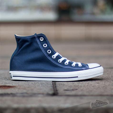 Converse All Hi Navy converse all high trainers navy footshop
