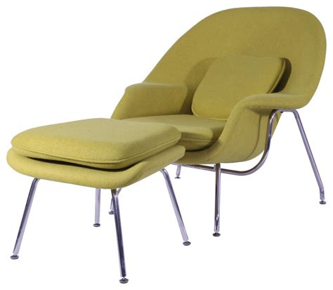 comfy chair and ottoman comfy chair and ottoman set in aged yellow midcentury