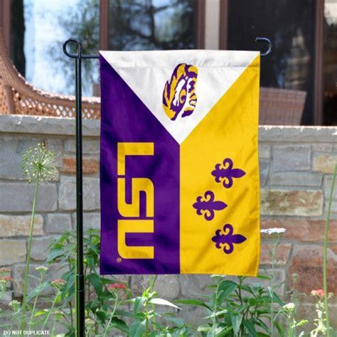 lsu tiger acadian logo garden flag