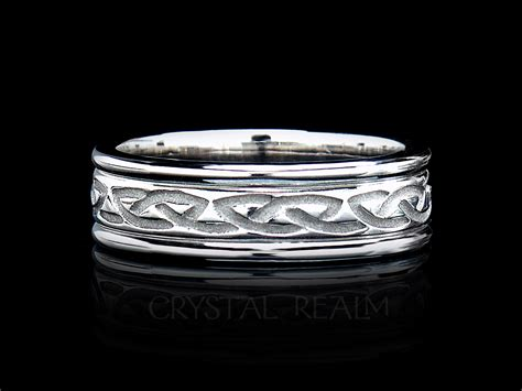 celtic wedding rings recessed eternal celtic knot band