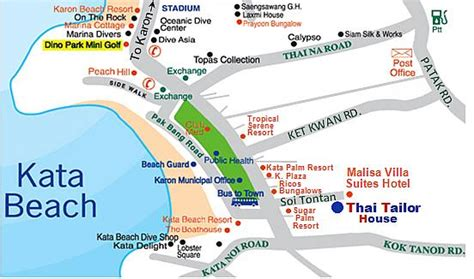 kata resort map thai tailor house our shop