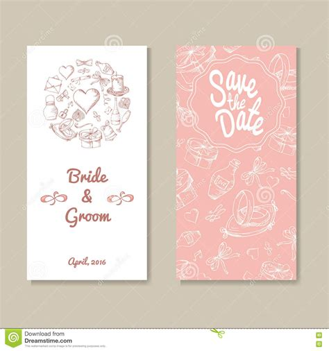 card template sets card vector template for wedding set of invitations for