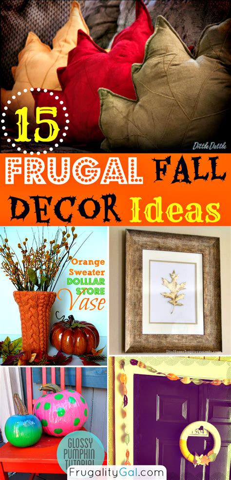 frugal home decorating blogs 16 frugal fall decor ideas and tutorials
