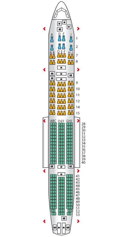 korean air seat image gallery korean air seating chart