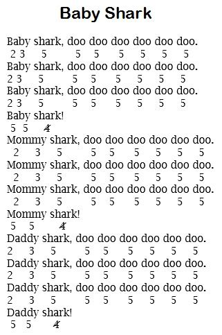 baby shark not piano not lagu baby shark pianika lagu anak anak yang tengah