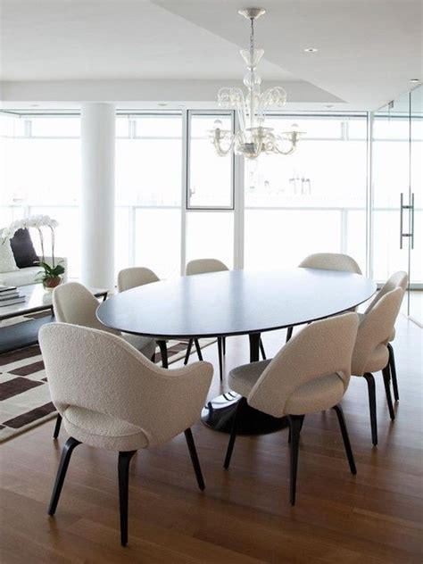 white dining room tables and chairs 15 astounding oval dining tables for your modern dining room