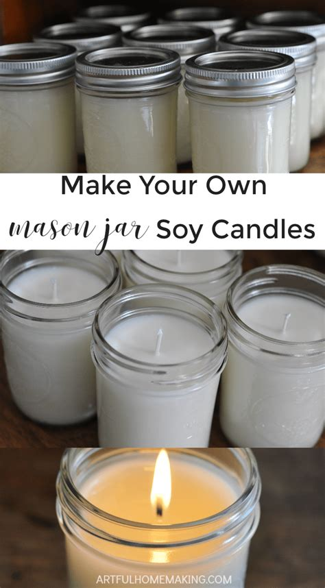 make your own jar soy candles tutorial artful