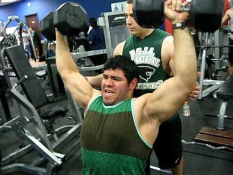 80 lb dumbbell bench press 180lb guy shoulder dumbbell press 110lb doovi