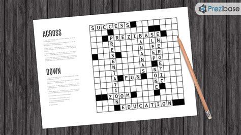 crossword prezi template prezibase