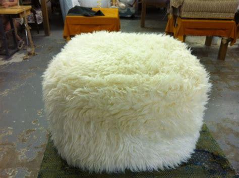 sheepskin ottoman faux sheepskin ottoman my interior design pinterest