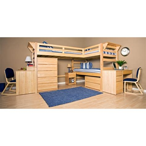 double loft bed with desk graduate triple lindy twin xl loft bed with third bed