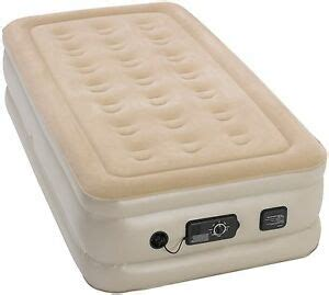 air mattress with built in serta raised self inflating best air bed ebay
