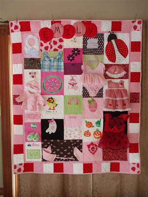 Patchwork Quilt Out Of Baby Clothes - custom orders large throw size patchwork quilt made from