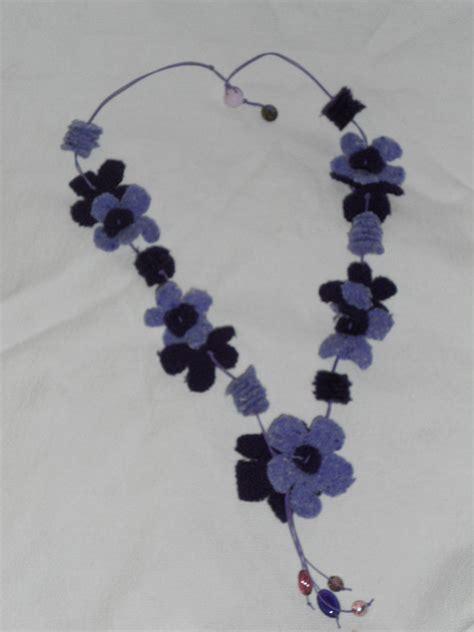 collana di fiori collana fiori di stoffa gioielli collane di mo