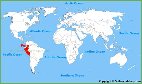 where is lima peru located on a world map peru location on the world map