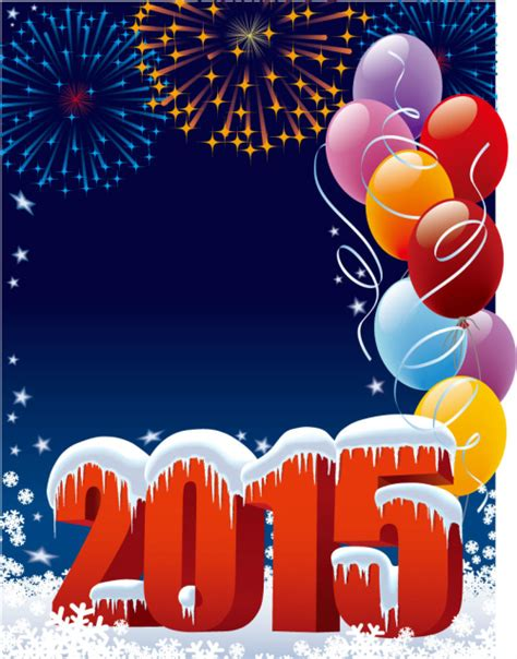 poster for new year 2015 2015 new year poster frozen wordart vector material