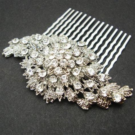 Vintage Inspired Wedding Hair Accessories by Vintage Inspired Bridal Hair Comb Rhinestone Wedding Hair