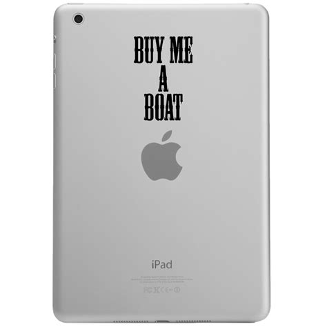 buy me a boat vinyl funny buy me a boat country song ipad tablet vinyl sticker