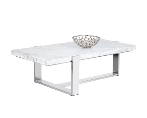 White Marble Coffee Table Tribecca Coffee Table Rectangular White Marble Metro Element