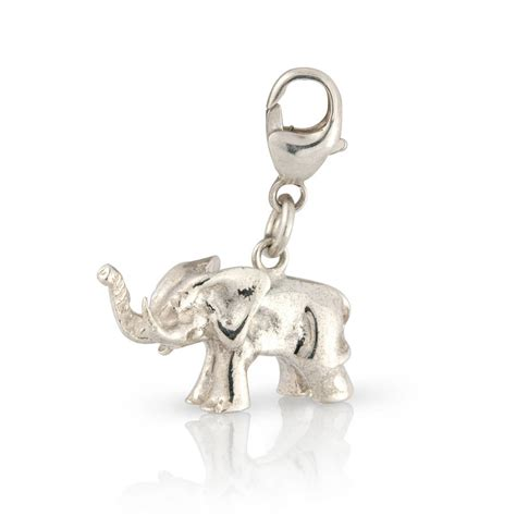sterling silver sterling silver elephant charm by argent of