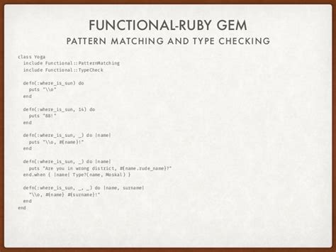 pattern matching ruby funtional ruby mikhail bortnyk