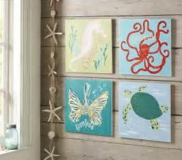 Surf sea art plaques tropical kids decor by pottery