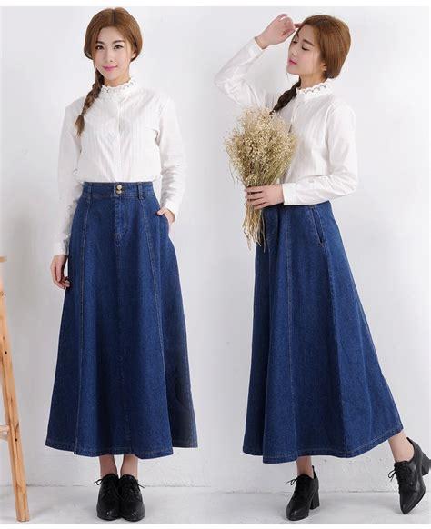 fashion high waist denim skirts slim hip