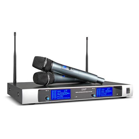 Microphone 2 Mic Anak 2 wireless microphone system uhf 2 channel 2 cordless handheld mic u980 ebay