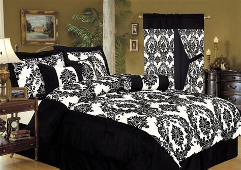 toile comforter sets queen new black white damask toile 7p queen comforter set