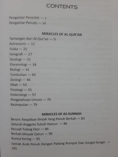 Mukjizat Ilmiah Dilautan Dan Dunia Binatang buku miracles of al qur an as sunnah toko muslim title