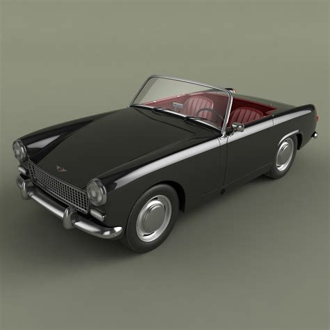 Healey Sprite Model healey sprite mkii 3d model max obj 3ds cgtrader