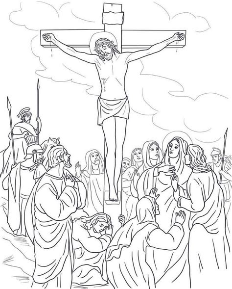 coloring pages jesus death 20 free printable good friday coloring pages