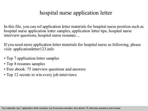 Application Letter Hospital hospital application letter
