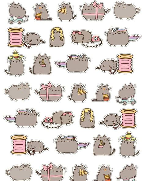 printable stickers cricut pusheen cat free planner printable cricut ready