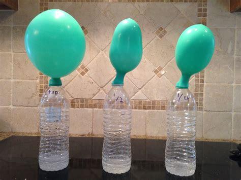 Hair Dryer Air Balloon Experiment baking soda and vinegar balloon www imgkid the