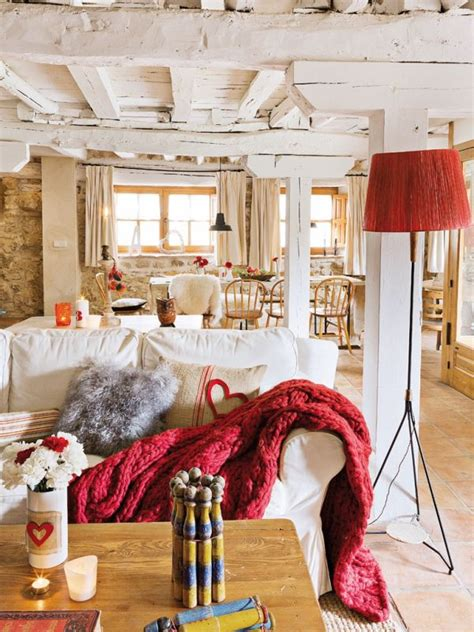 Ceiling And Walls The Same Color by Lovevly Rustic Cottage Interior Featuring A Surprising