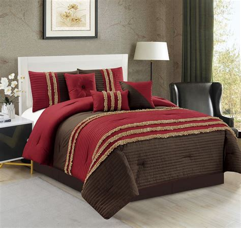 7 piece ruched pleat comforter set ebay