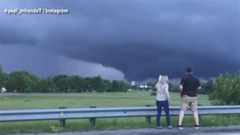 motorists pull      massive funnel cloud video abc news