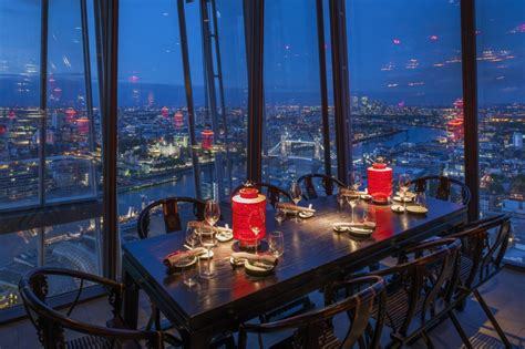 bar at the top of the shard into lighting hutong at the shard london