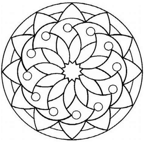 easy mandala coloring pages for adults mandalas para pintar octubre 2012