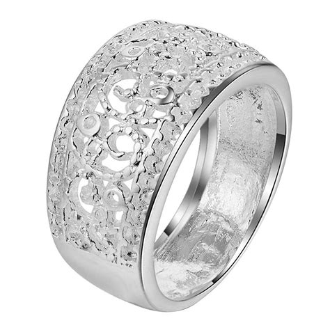 classic carve pattern wholesale 925 jewelry silver plated