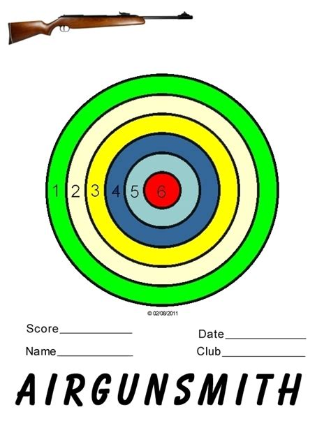 printable targets airguns printable targets the villages air gun club