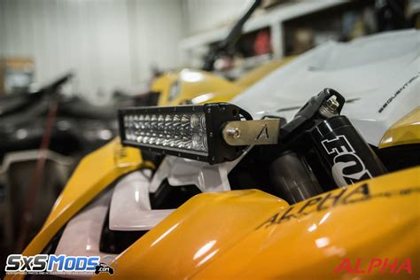 front led light bar yxz1000r front light bar mount by alpha powersport