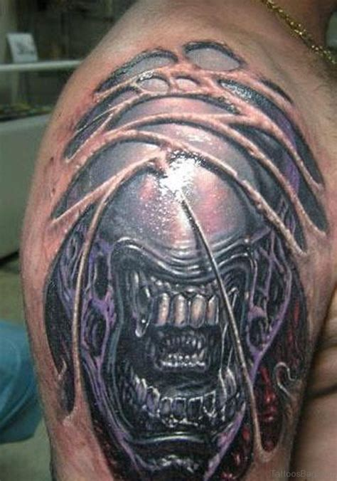 alien tattoos 64 great tattoos on shoulder