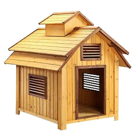 homedepot dog house pet squeak 3 7 ft l x 3 4 ft w x 3 9 ft h large bird dog house 1203l the home depot