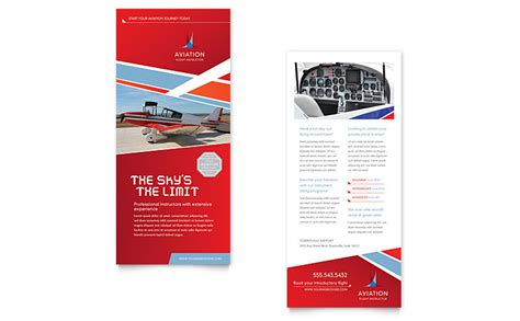 uprinting rack card template aviation flight instructor rack card template word