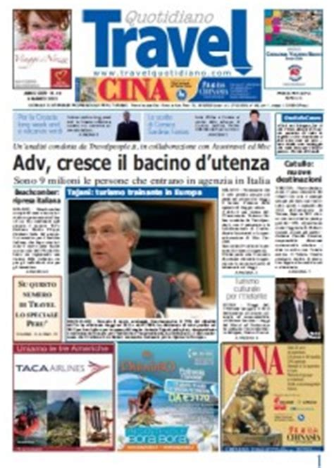 travel and tourism section in newspaper travel quotidiano giornale sul turismo