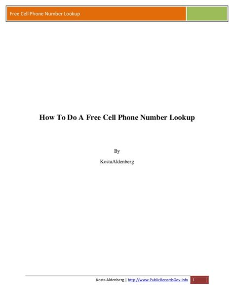 How To Lookup A Cell Phone Number Owner For Free How To Do A Free Cell Phone Number Lookup
